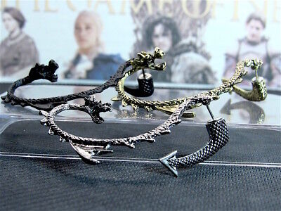 Game of Thrones - Collectible Targaryen Dragon Ear Cuff (Earring) - 3 Colors (Dragon Cuff Earrings)