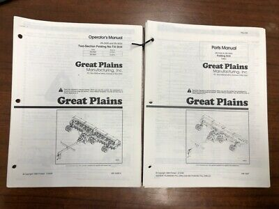 Great Plains 2n-2420 2n-3020 Folding No-till Drill Operator And Parts Manuals