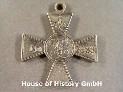 Russland: St.Georgs Kreuz für preußische Truppen, 1839, Silber, VerlNr: N 2833