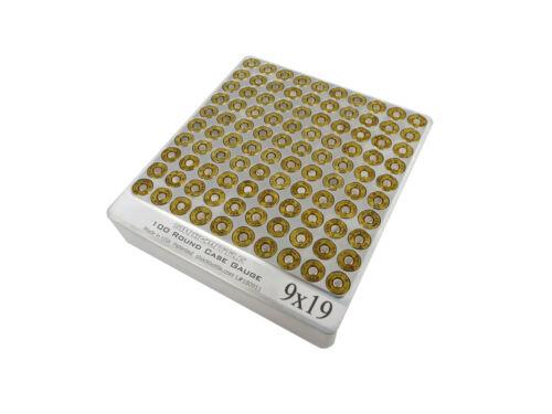 100 Round 9mm Luger Hundo Chamber Checker Cartridge Case Gauge