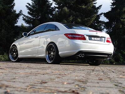 MH-DEZENT 4 Rohr Sportauspuff Mercedes E Coupe Cabrio A207 C207 E 350 E 500