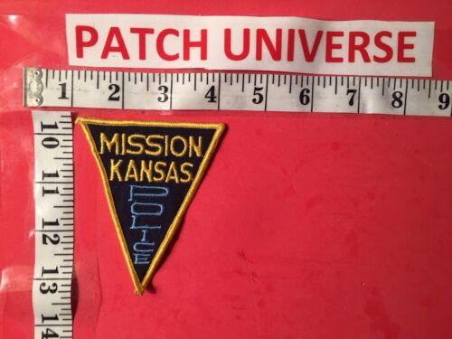 VINTAGE MISSION KANSAS  POLICE SHOULDER PATCH   A011