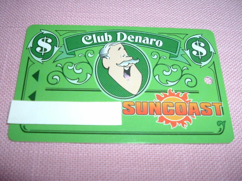 Suncoast Casino Players Club Denaro Slot Card Las Vegas, NV Obsolete Rare