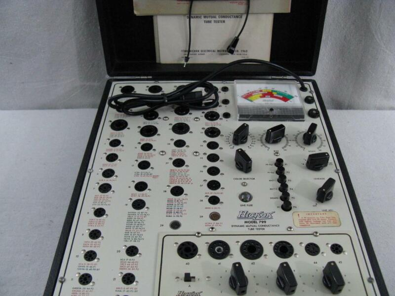 Hickok 799 Mutual Conductance Tube Tester with CA-99 Adapter *Calibrated*