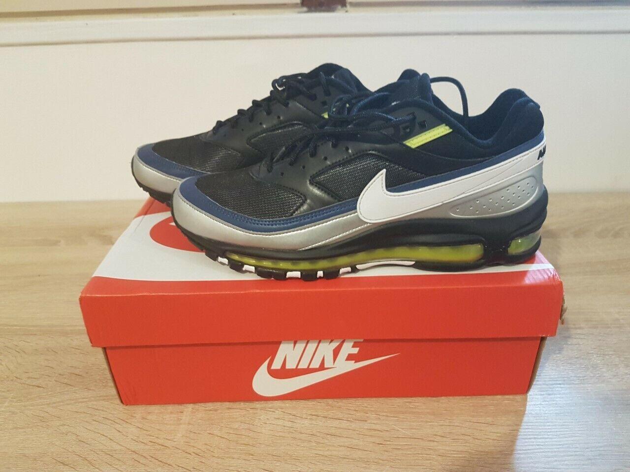 Nike air max 97 bw black white metallic silver 41 eu 8 us très bon état