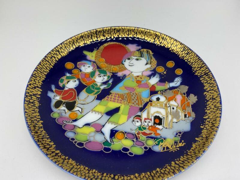 Bjorn Wiinblad Denmark Rosenthal Studio Line Plate #2  Aladdin & Magic Lamp EUC