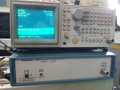 Tektronix Spectrum Analyzer 2712 Gpib External Tracking Generator 2707
