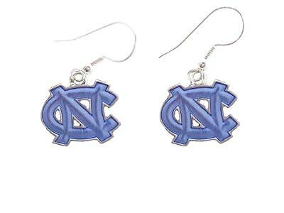 North Carolina Tar Heels Iridescent Blue Silver French Hook Earring Jewelry (Carolina Blue Hook)