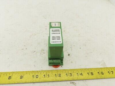 Cr Magnetics Cr5210-20 Dc Current Transducer 0-20adc Input 0-5vdc Output