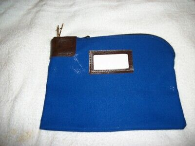 Night Deposit Zipper Bag (Seven-Pin Security/Night Deposit Bag, Two Keys, Nylon, 11 x 8 1/2, Navy )