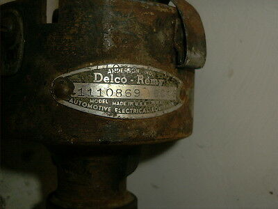 ORIGINAL 1956 chervolet DELCO DISTRIBUTOR # 1110869 DATED 6 C 13