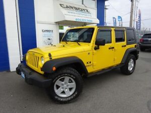 """2008 Jeep Wrangler Unlimited 4x4, 2 Inch LIFT, 33"""" Tires, 89,669"""