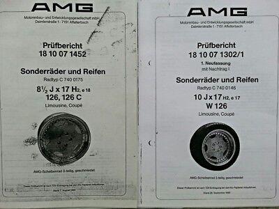 AMG AERO Räder Styl.1 ABE/Prüfbericht für Mercedes W 126 Limo,Coupe