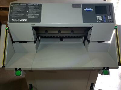 Challenge Titan 200a Prog. Hydraulic 20 Paper Cutter W Light Curtain 200