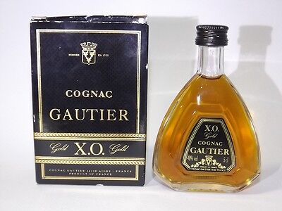 Cognac GAUTIER XO GOLD 5 cl 40% mini flasche bottle miniature bottela
