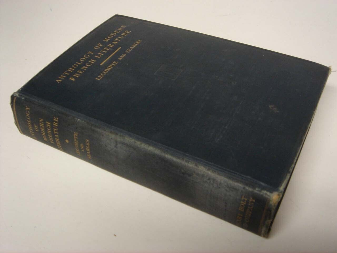 anthology of modern french literature 1931 lecompte and searles --- FRENCH ???
