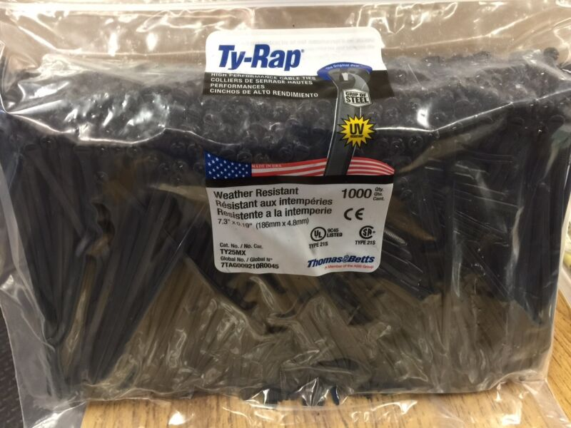 "Thomas & Betts Ty-Rap TY25MX 7.3"" 50lb 1000/Pack"