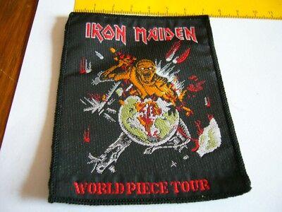 IRON MAIDEN – very rare old original 80s WORLD PIECE TOUR Patch!!!