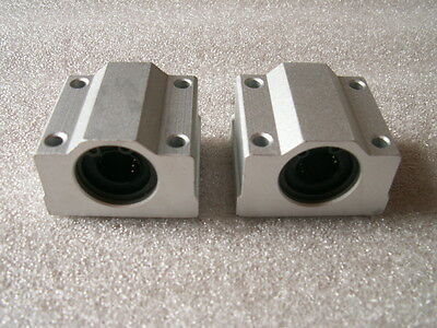 2x CNC linear slide guide Cylinder shaft 12mm rod SC12UU SCS12UU bearing blocks