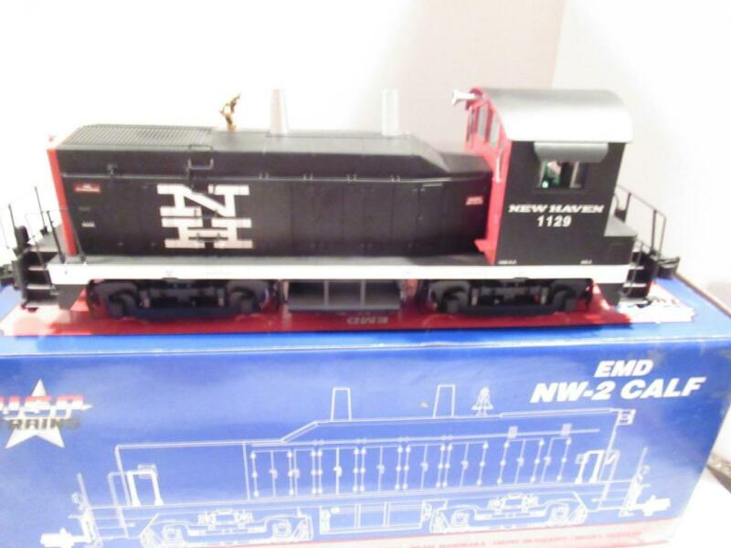 USA TRAINS - G SCALE- NEW HAVEN NW-2 DIESEL SWITCHER- RUNS GOOD- 2 MOTORS  - HB1