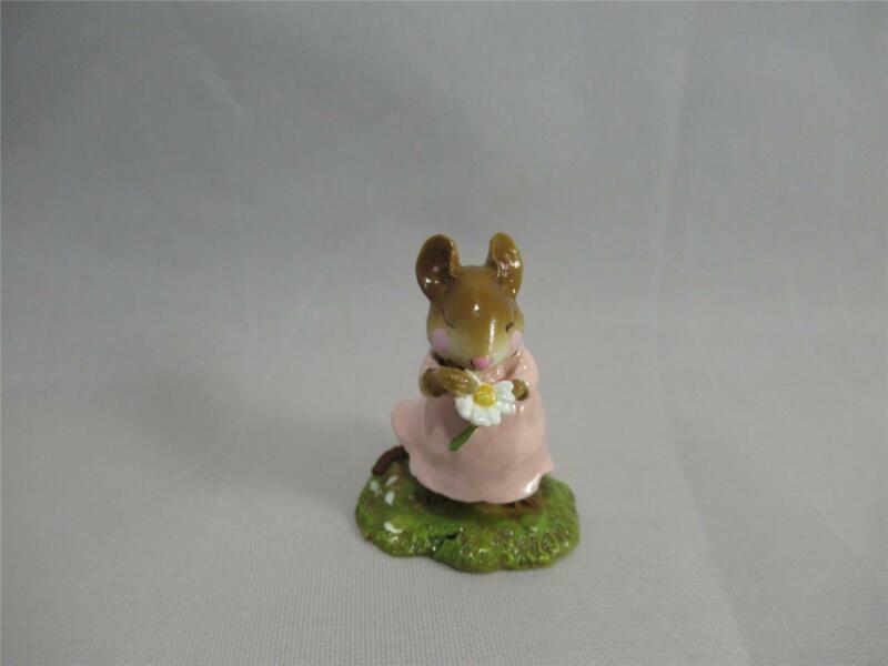 Wee Forest Folk Loves Me . . . Pale Pink Dress - Retired 2004 - Sweet WFF