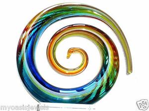 Murano Venetian Glassware Modern Italian Abstract Art Glass Hand Blown Swirl