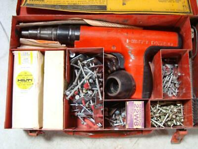 Hilti Dx350 Power Actuated Fastener Nail Gun Kit With Case Extras