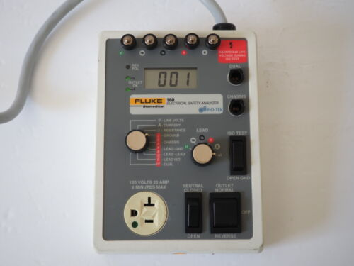 Fluke Bio-Tek 180 Electrical Safety Analyzer ECG EKG Biomedical