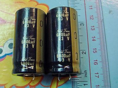 2pcs Nichicon Kg Gold Tune 6800uf 63v Audio Grade Electrolytic Capacitor E195 Yx