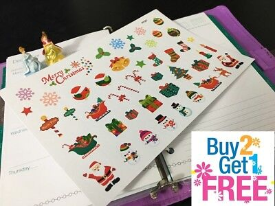 PP357 --  Christmas Decoration Icons Planner Stickers for Erin Condren (45pcs)