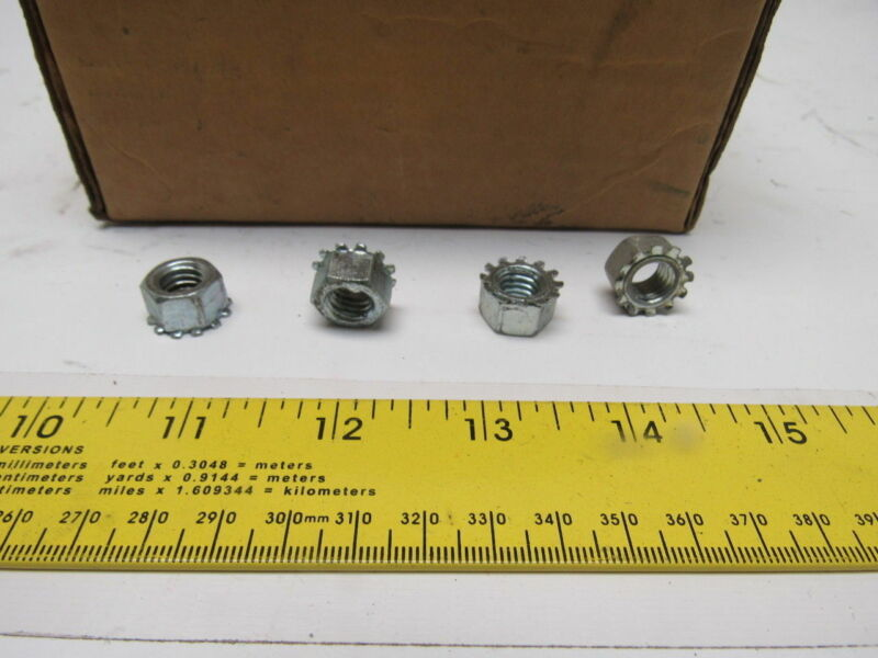 3/8-16 Zinc Plated Kep Nuts Lock Nut Hex Nut With Lock Washer Lot 300+