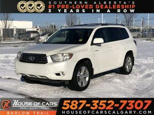 2008 Toyota Highlander V6 Sport / Back up Camera / Sunroof / Lea