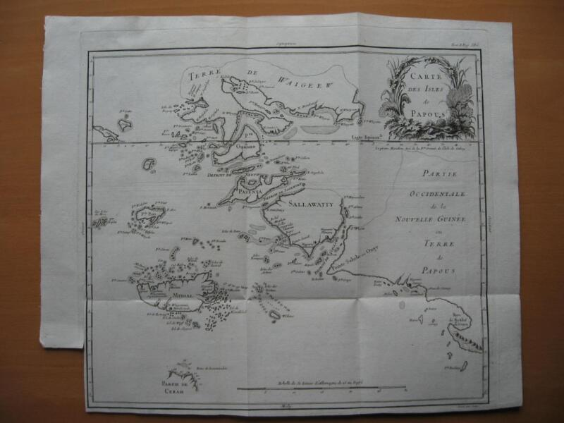1787 - De PRETOT - Map EASTERN MOLUCCAS & WESTERN PAPUA