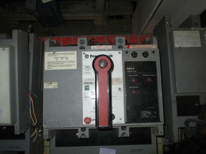 Ge Powerbreak Tp2020sse1 2000a 3p 600v Eo/fm Circuit Breaker W/ Li Used E-ok