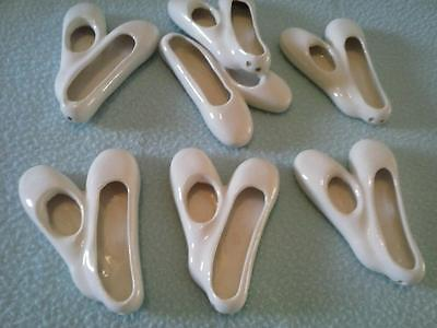 Ballerina Ballet Shoes Slippers Ceramic Craft Wall Hanging Lot of 7