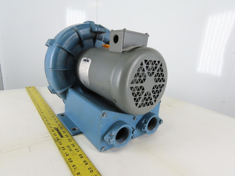 Ametek  510318 2HP 208-230/415-460V 60Hz Regenerative Blower