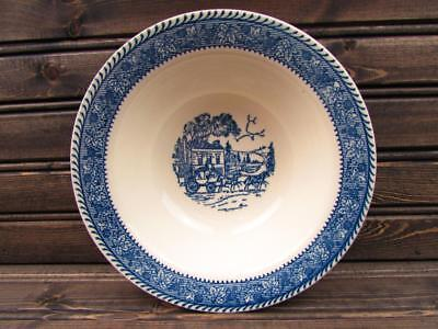 Shakespeare Country Blue by Homer Laughlin Cereal Bowl Stratwood Blue Leaves