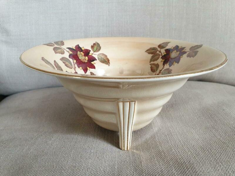 Maling Lustre Ware Brocade Art Deco shape bowl
