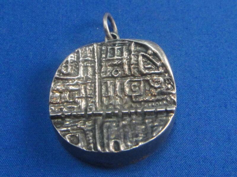 Vintage Finland Modernist Kultateollisuus Ky 830 Silver Pin Brooch Pendant