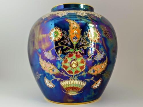 Large Art Deco Carlton Ware Turkish Pattern Enameled Lustre Vase / Ginger Jar