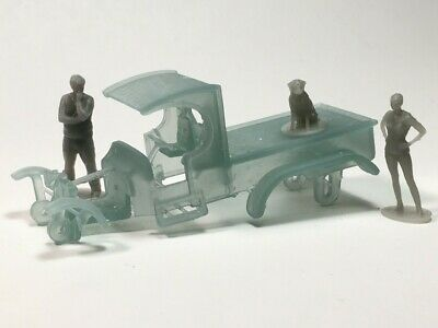 Custom Slot Car HO C-Cab Double Rear Axle Truck Body fits Aurora T-Jet Chassis