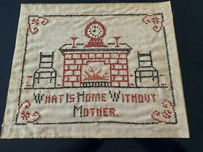 Vintage embroidered and cross stitch table cloth keepsakes 40s hope chest bliss