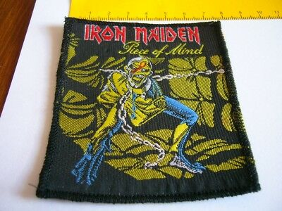 IRON MAIDEN – very rare old 80s PIECE OF MIND Patch!!!