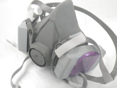 6300 L 3m Half Face Mask Respirator W2 Attached 7093 Niosh Filter Largeused