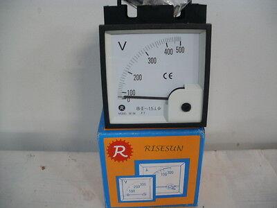Risesun Analog Voltage Panel Meter Be-96 0-500 Volts