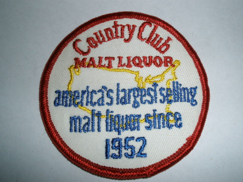 "COUNTRY CLUB MALT LIQUOR BEER ""SINCE 1952"" 3-1/8"" DIAMETER PATCH"