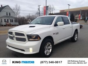 2015 Ram 1500 SPORT- $268 B/W FULL CREW..HEATED LEATHER SEATS &