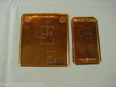 2 x JE Merkenthaler Monogramme, Kupfer Schablonen, Stencils, Patrons broder