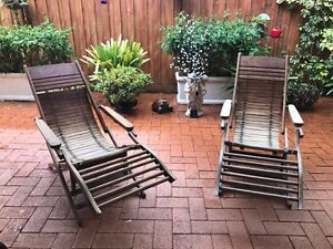 Handmade wooden pool chairs Baulkham Hills The Hills District Preview
