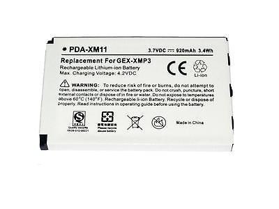 920mAh L01L40321 Battery 4 Pioneer GEX-XMP3 Sirius XM XMP3 XMP3i XMP3H1 990552